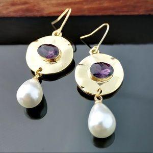 JUST IN Luxury 18K Gold Filled Rhinestone Earrings